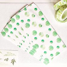 Papier - papierová obálka Zelené machuľky - 10026999_