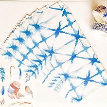 Papier - papierová obálka Modrá batika - 10027057_