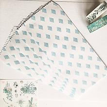 Papier - papierová obálka Akvarelové kosoštvorce - 10027122_