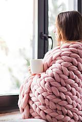 Úžitkový textil - Merino deka - 100x120 - 10025635_