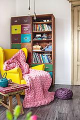 Úžitkový textil - Obria pletená deka Merino -120X160 - 10025913_