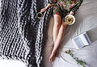 Úžitkový textil - Merino obria deka - 100x100 - 10025607_