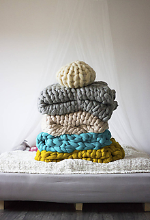 Úžitkový textil - Merino obria deka - 180x200 - 10025855_