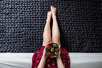 Úžitkový textil - Obria pletená deka Merino - 90x140 - 10025912_
