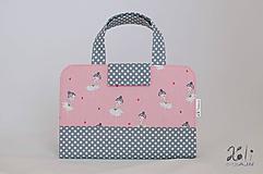 Detské tašky - Detský kufrík - pastelkovník Baletky (pink) - 10028815_