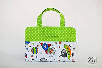 Detské tašky - Detský kufrík - pastelkovník Vesmír - 10028811_