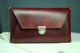 Kabelky - Kožená listová kabelka BORDO SILVER - 10028561_