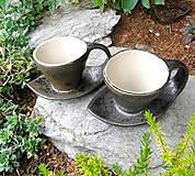 Nádoby - Šáločka na kávičku...2 v 1 - 10026360_