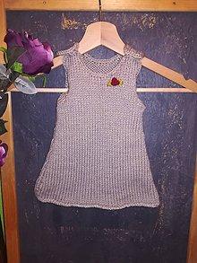 Detské oblečenie - Pletené šatôčky - 10027334_