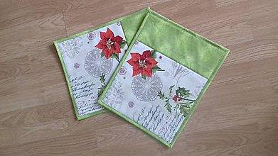"""Úžitkový textil - Prestieranie """"vianočná ruža I."""" - sada 2 ks - 10024962_"""