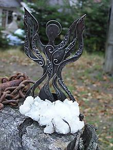 Svietidlá a sviečky - Svietnik - Anjelik - 10025289_