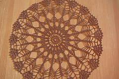 Úžitkový textil - hačkovaná dečka hnedozladá - 10028213_