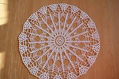 Úžitkový textil - Hačkovaná dečka biela-veľká - 10028305_