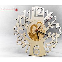 Hodiny - Vyrezávané nástenné hodiny s fotografiou - 10025158_