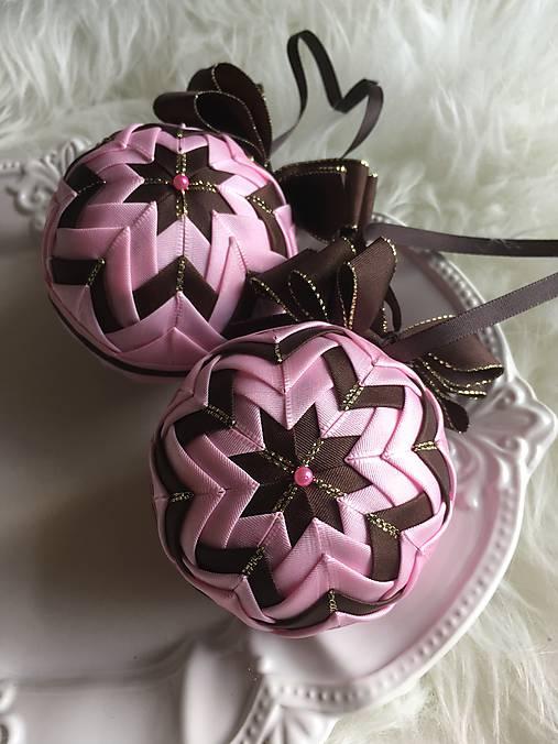 727098bc1 Vianočné gule - falošný patchwork (ružová, hnedá) / silvi.k - SAShE ...