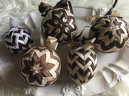 abafe10bb Vianočné gule - falošný patchwork (zlatá, hnedá) / silvi.k - SAShE ...
