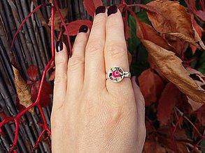 Prstene - Minimalistický prsteň s výšivkou Ag925 - 10025656_