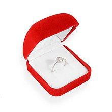 Obalový materiál - Zamatová krabička - prsťeň - 10026583_