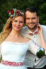 Opasky - Ručne maľovaný opasok folk... - 10026218_