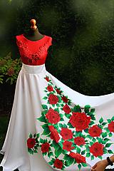 Sukne - Maľovaná kruhová sukňa... - 10027095_