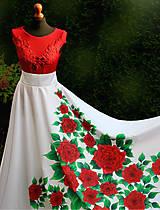Sukne - Maľovaná kruhová sukňa... - 10027117_