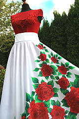 Sukne - Maľovaná kruhová sukňa... - 10027120_