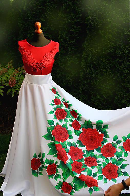 Maľovaná kruhová sukňa...