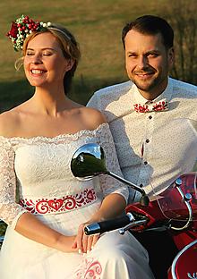 Opasky - Ručne maľovaný opasok folk... - 10025738_