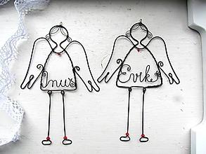 Dekorácie - anjel osobný - 10025802_