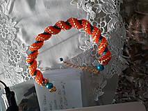 Náramky - Oranžovo - Tyrkysový - 10027131_