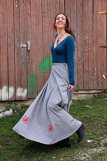 Sukne - sivá sukňa - 10029383_