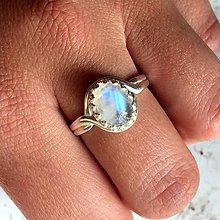 Prstene - Vintage Moonstone Ring / Vintage prsteň s mesačným kameňom v striebornom prevedení #1081 - 10032112_