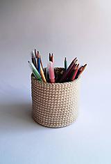 Košíky - Košík na ceruzky - Béžový | svetlý | Midi - 10030817_