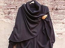 Šatky - Velký,černý,fleecový šátek - 10032058_