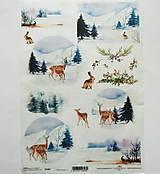 - Ryžový papier na decoupage -A4-R1463 - Vianoce, srnky - 10029202_