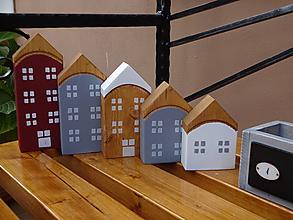 Dekorácie - Sada piatich domčekov - 10030281_