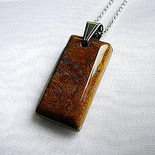 Šperky - Jaspis hadí - obojstranný - 10029528_