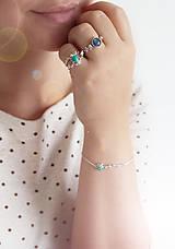 Prstene - Strieborný ligotavý prsteň s amazonitom - Bokeh Amazo - 10029712_