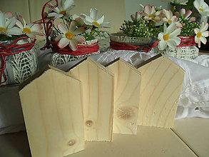 Polotovary - Drevené domčeky z smrekového dreva. - 10031979_