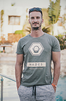 Oblečenie - Pánske tričko HADES (organická bavlna) - 10032595_