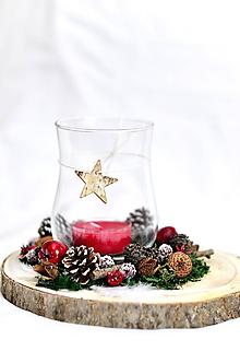 Dekorácie - Vianočný svietnik - 10031875_