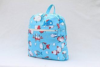 Detské tašky - Detský ruksak rybky - 10031809_