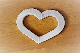 Polotovary - Saténové srdce k výrobe - 10030729_