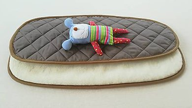 Textil - Podložka do vaničky Joolz DAY 2 100% merino ELEGANT Elephant grey KHAKI - 10029210_