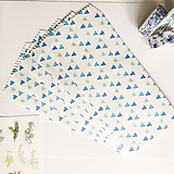 Papier - papierová obálka Akvarelové trojuholníky - 10029023_