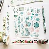 Papier - papierové nálepky Rastlinky I - 2 hárky - 10029347_