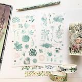 Papier - papierové nálepky Rastlinky II - 2 hárky - 10029546_