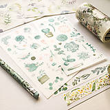 Papier - papierové nálepky Rastlinky III - 2 hárky - 10029847_
