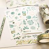 Papier - papierové nálepky Rastlinky III - 2 hárky - 10029848_