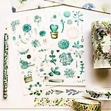 Papier - papierové nálepky Rastlinky III - 2 hárky - 10029849_